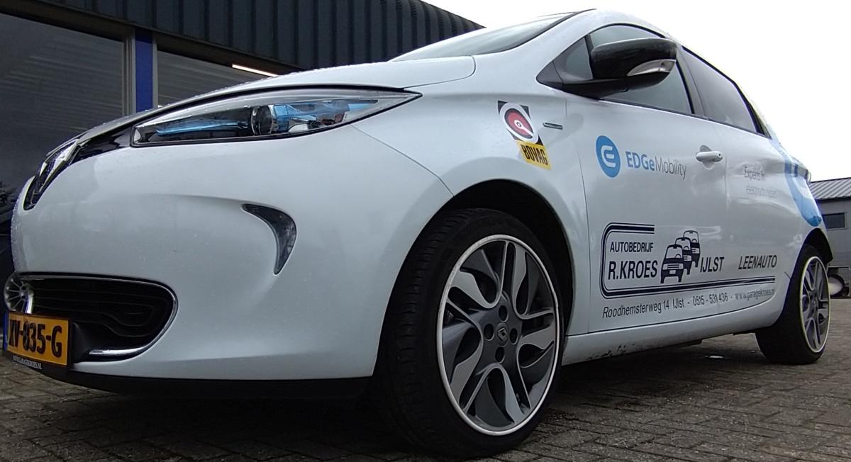 De Renault Zoë heeft nieuwe stickers
